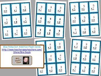 Printable Blue Polka Dot Flash Cards Complete Set