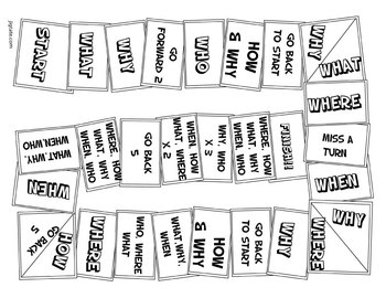 Printable Board Game to Practice Question Words