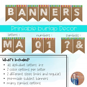 Printable Burlap Banners!
