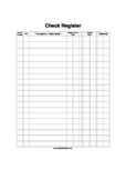 Printable Checkbook Register for Classroom Economics