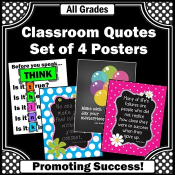 Classroom Decor Back to School Motivational Quotes & Rules