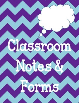 Printable Classroom Teacher Notes and Forms. Miss you. Sub