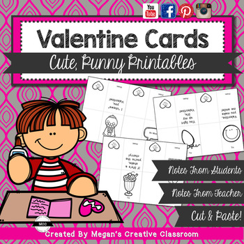 FREE Valentines Cute and Clever (Print and Color!)