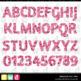 Printable Clip Art *FABULOUS FOIL- PINK* Alphabet, Punctua