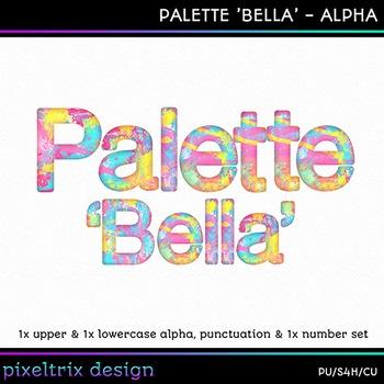Printable Clip Art *PALETTE - BELLA* Alphabet, Punctuation