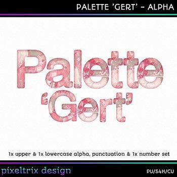 Printable Clip Art *PALETTE - GERT* Alphabet, Punctuation