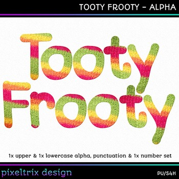 Printable Clip Art *TOOTY FROOTY* Alphabet, Punctuation an