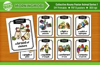 Printable Collective Nouns Posters Animal Series1