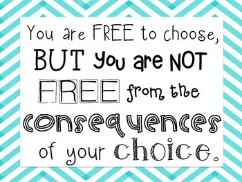Printable - Consequences Quote Poster