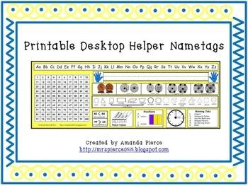 Printable Desktop Helper Nametag - 56 VARIATIONS