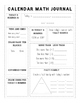 Printable Differentiated Calendar Journal