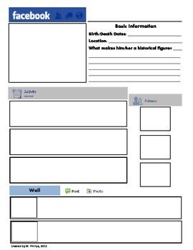 Printable Facebook Template