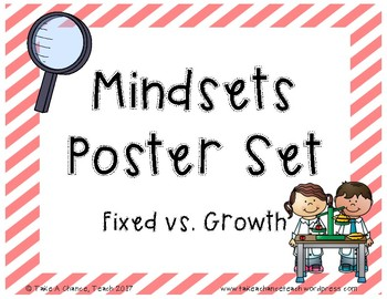 Printable - Fixed vs. Growth Mindsets Posters