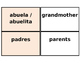 Printable Flashcards: La familia (Avancemos 1 U3 L2)
