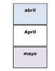 Printable Flashcards: Los meses / Months in Spanish