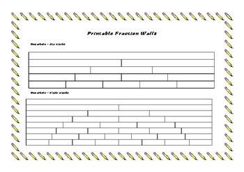 Printable Fraction Walls