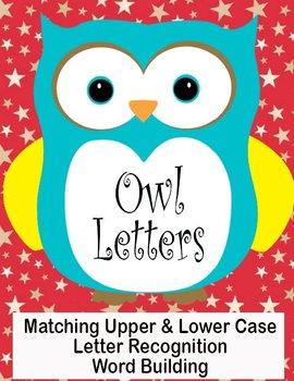 Printable Grammar Assorted Activities - Owl Letters Upper