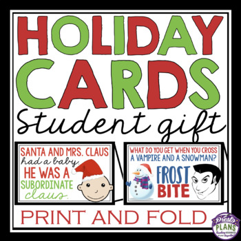 CHRISTMAS CARDS STUDENT GIFT