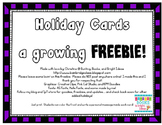Printable Holiday Cards - Growing FREEBIE!