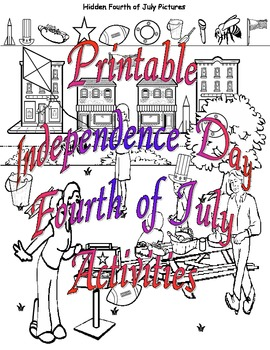 Printable Independence Day Fourth of July Activities