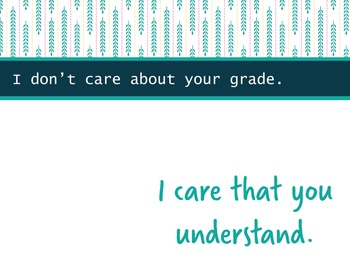 Printable Inspirational Classroom Poster | I Care That You