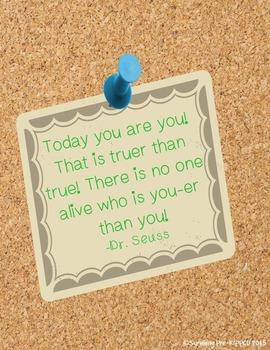 Printable Inspirational Quote - Dr. Seuss