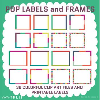 Printable Labels: Pop Labels