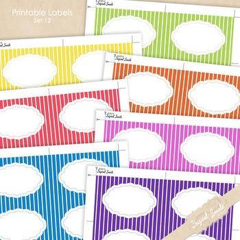 Printable Labels Set 12