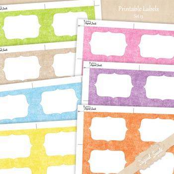 Printable Labels Set 13