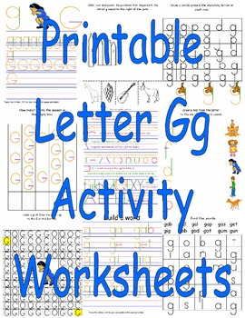 Printable Letter Gg Activity Worksheets