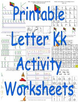 Printable Letter Kk Activity Worksheets