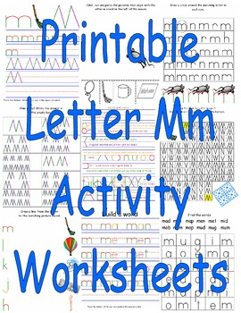 Printable Letter Mm Activity Worksheets