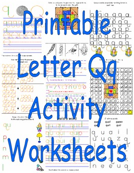 Printable Letter Qq Activity Worksheets