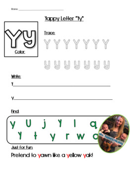 Yappy Letter Y