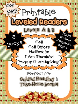 5 Printable Emergent Readers for FALL + Writing Response Pages