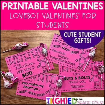 Printable Love Bot Valentines {robot valentines for your s