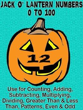 Printable Math Assorted Activities - Jack O' Lantern Numbe