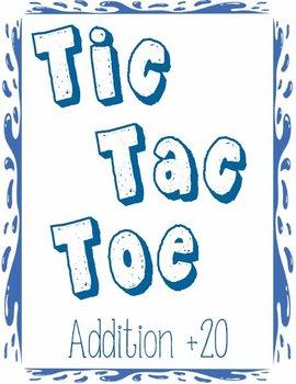 Printable Math Center Tic Tac Toe Addition Plus 20 File Fo