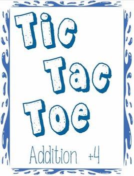 Printable Math Center Tic Tac Toe Addition Plus 4 File Fol
