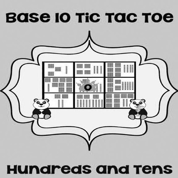 Printable Math Center Tic Tac Toe Base 10 Blocks - Hundred
