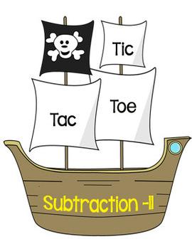 Printable Math Center Tic Tac Toe Subtraction Minus 11 Fil