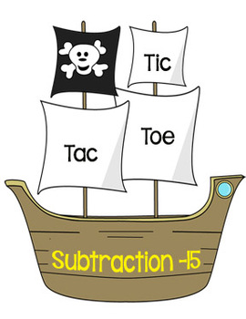 Printable Math Center Tic Tac Toe Subtraction Minus 15 Fil