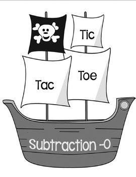 Printable Math Center Tic Tac Toe Subtraction Minus 0 File