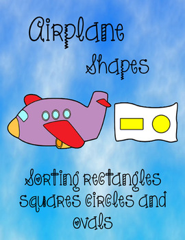 Printable Math File Folder Game Airplane Shapes - rectangl
