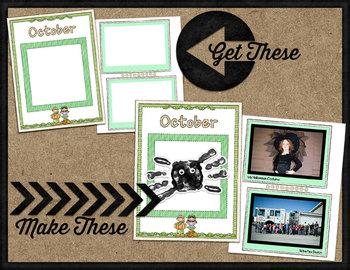 Printable Memory Book Spread {October Pumpkin Kids}