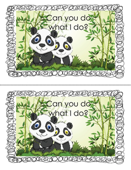Printable Mini-Book: Can you do what I do?