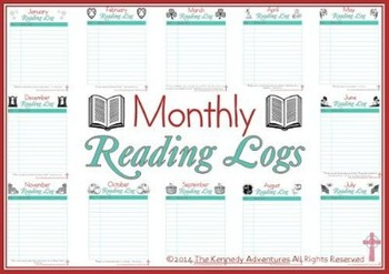 Printable Monthly Reading Logs