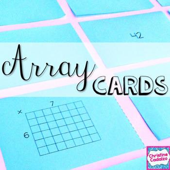 Printable Multiplication Flash Cards- Arrays