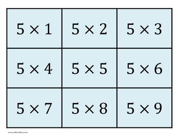 Printable Multiplication Flash Cards with Answers by Robin Sellers ...