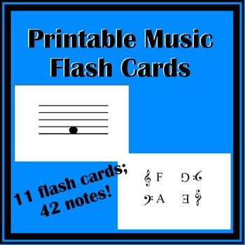 Printable Music Flash Cards